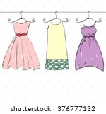 vector beautiful clothes | Shutterstock .eps vector #376777132