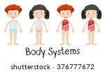 children and body systems... | Shutterstock .eps vector #376777672