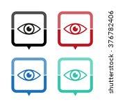 eye   vector icon  map pointer  ...