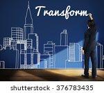 transform transformation change ... | Shutterstock . vector #376783435
