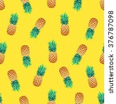tropical trendy seamless... | Shutterstock .eps vector #376787098