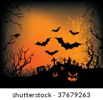 a halloween background with... | Shutterstock .eps vector #37679263