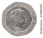 20 English Pence With The Imag...