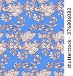indian floral seamless... | Shutterstock .eps vector #376806082