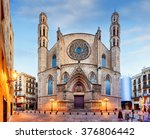 santa maria del mar church in... | Shutterstock . vector #376806442