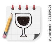 wine doodle drawing | Shutterstock .eps vector #376809106