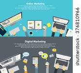 set of flat design concept for... | Shutterstock .eps vector #376810966