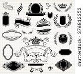 vintage frames and scroll... | Shutterstock .eps vector #376812352