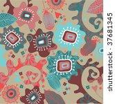 floral pattern in vector | Shutterstock .eps vector #37681345