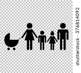 family sign. flat style icon on ... | Shutterstock .eps vector #376814092