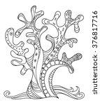 sea coral doodle zentangle hand ... | Shutterstock .eps vector #376817716
