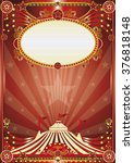 red magic circus background. a... | Shutterstock .eps vector #376818148