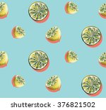 lemons watercolor pop art style ... | Shutterstock . vector #376821502