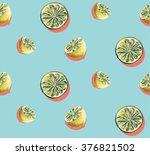 lemons watercolor pop art style ... | Shutterstock . vector #376821502