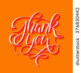 thank you 3d hand drawn... | Shutterstock .eps vector #376830442