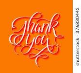 thank you 3d hand drawn... | Shutterstock .eps vector #376830442