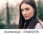 teenager portrait listening to... | Shutterstock . vector #376832578