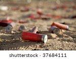 Shot Gun Shells In The Dirt