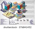illustration of infographic... | Shutterstock .eps vector #376841452