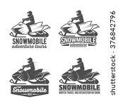 Set Of Winter Snowmobile...
