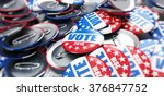 vote election badge button for... | Shutterstock . vector #376847752