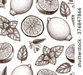 vintage pattern design with... | Shutterstock .eps vector #376847866