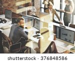business marketing team... | Shutterstock . vector #376848586