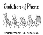 evolution of communication... | Shutterstock .eps vector #376850956