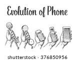evolution of communication...   Shutterstock .eps vector #376850956