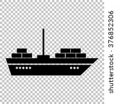 ship sign. flat style icon on... | Shutterstock .eps vector #376852306