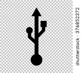 usb sign. flat style icon on... | Shutterstock .eps vector #376852372