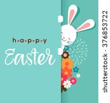colorful happy easter greeting... | Shutterstock .eps vector #376853722