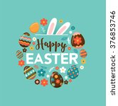 Colorful Happy Easter Greeting...