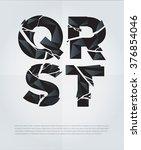 typographic broken alphabet in... | Shutterstock .eps vector #376854046