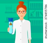 laboratory assistant with test... | Shutterstock .eps vector #376855786
