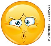 emoticon with an ouch expression   Shutterstock .eps vector #376859218