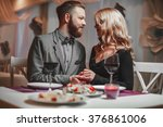 beautiful young couple with... | Shutterstock . vector #376861006
