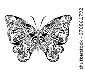 butterfly  vector illustration | Shutterstock .eps vector #376861792