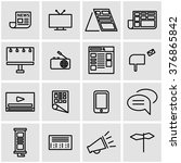 vector line advertisement icon... | Shutterstock .eps vector #376865842