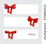 cards with red ribbons. vector... | Shutterstock .eps vector #376866412