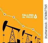 oil price falling down graph... | Shutterstock .eps vector #376867765
