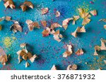 pencil shavings background | Shutterstock . vector #376871932