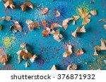 pencil shavings background | Shutterstock . vector #376871932