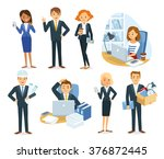 Vector Set Of People  Business...