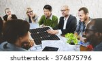 business people discussing... | Shutterstock . vector #376875796
