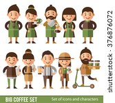 set of characters in a flat... | Shutterstock .eps vector #376876072