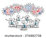 cartoon business people cursing ... | Shutterstock . vector #376882738