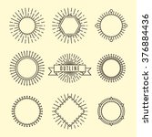 vintage outline labels set ... | Shutterstock .eps vector #376884436