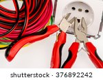 electrician tools and... | Shutterstock . vector #376892242