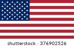 us flag  made with strict... | Shutterstock . vector #376902526